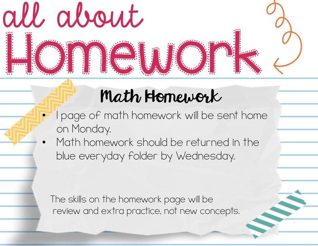 extra math homework