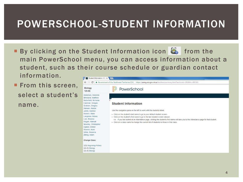 Introduction To Powerschool Gradebook And Tienet Ppt Download
