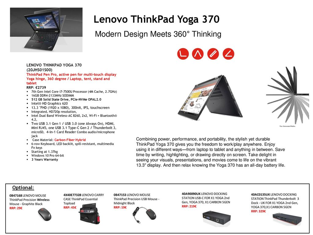 Lenovo ThinkPad Notebooks - ppt video online download