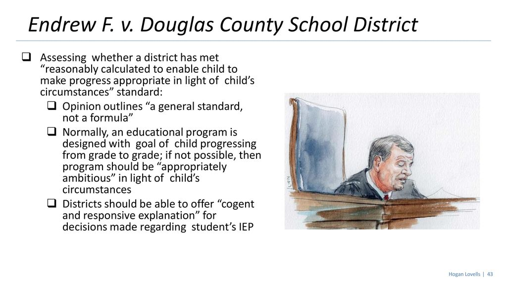 Endrew F V Douglas County And Its >> Supreme Court And Federal Regulation Aasa Advocacy Conference Ppt