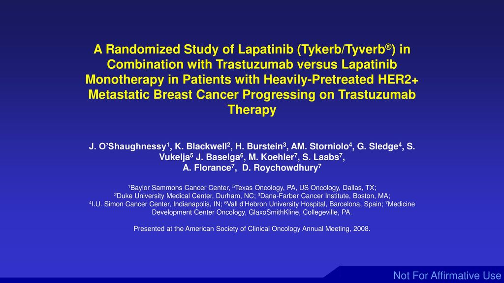 Management of HER2 Positive Metastatic Breast Cancer - ppt
