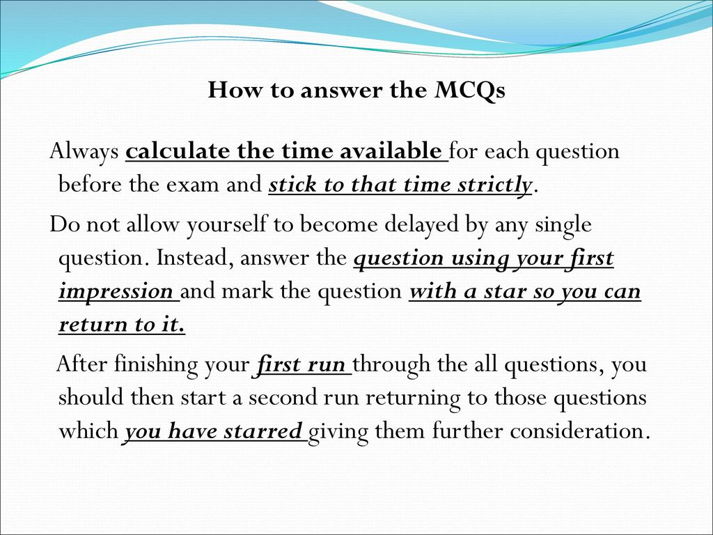 MCQs for 6th year Students - ppt download
