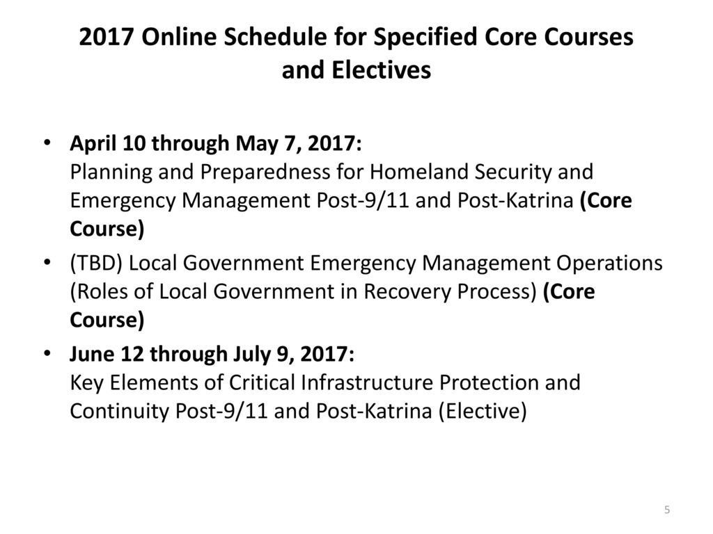 An Innovative Certificate Program in Emergency Management and