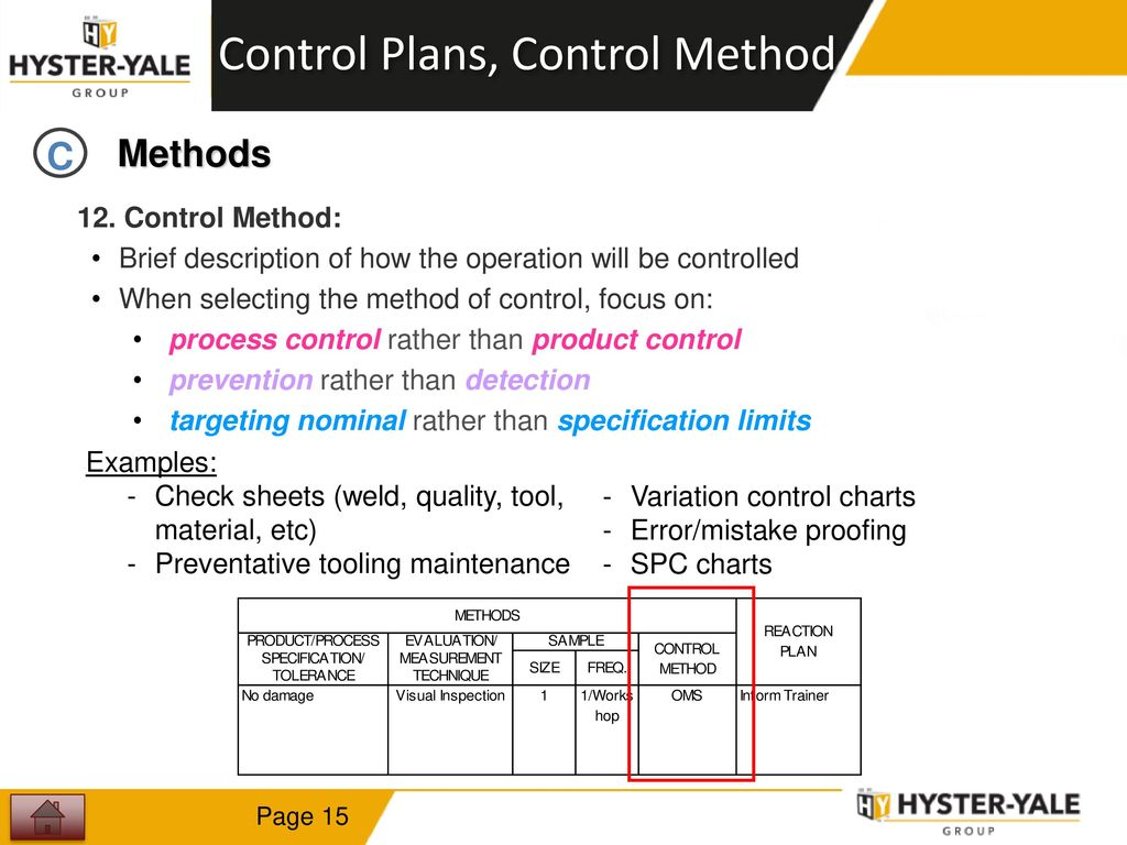 Control Plan Training  - ppt video online download