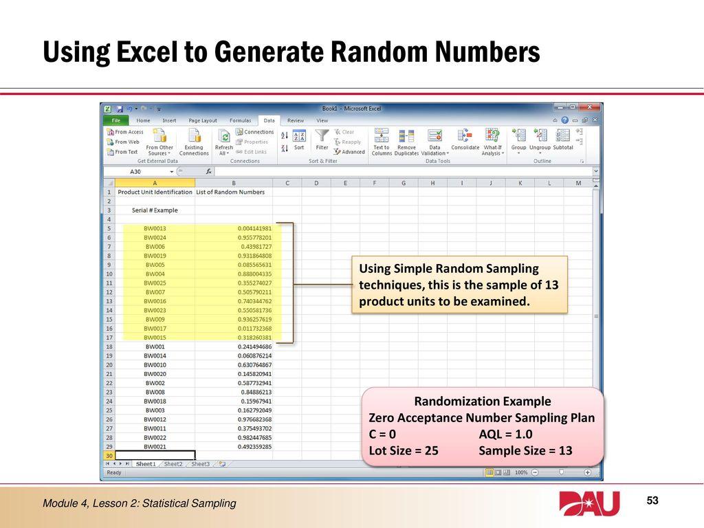 LESSON 2 Statistical Sampling - ppt download
