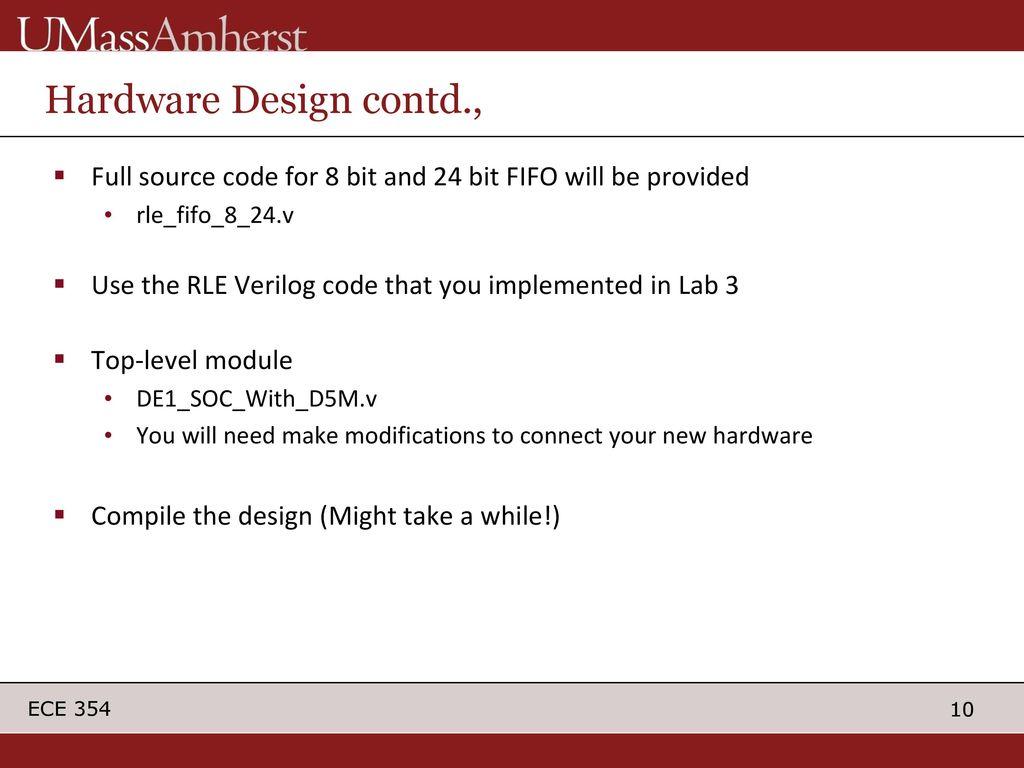 Lab 4 HW/SW Compression and Decompression of Captured Image