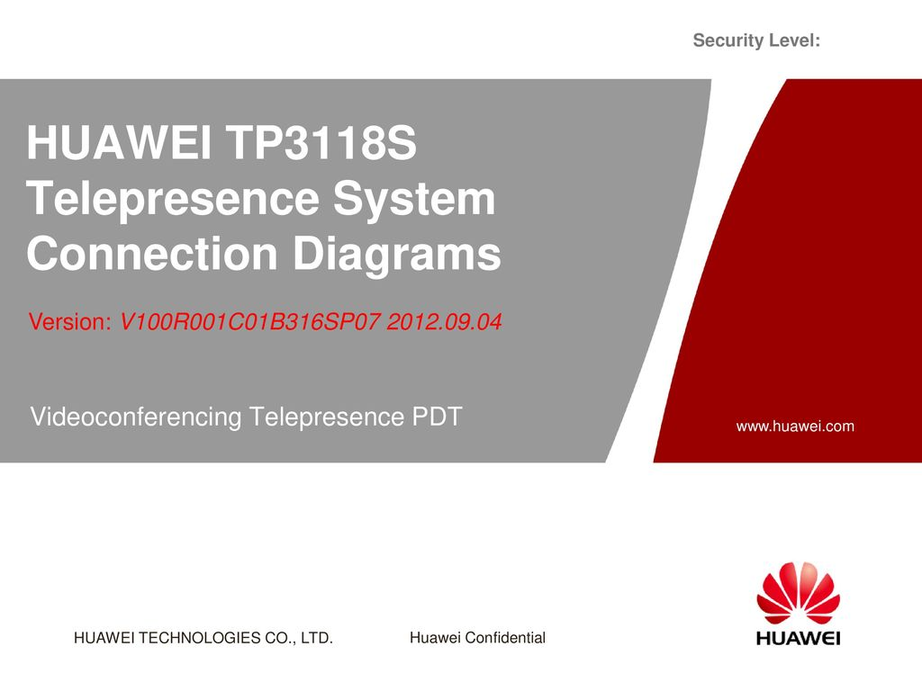HUAWEI TP3118S Telepresence System Connection Diagrams - ppt download