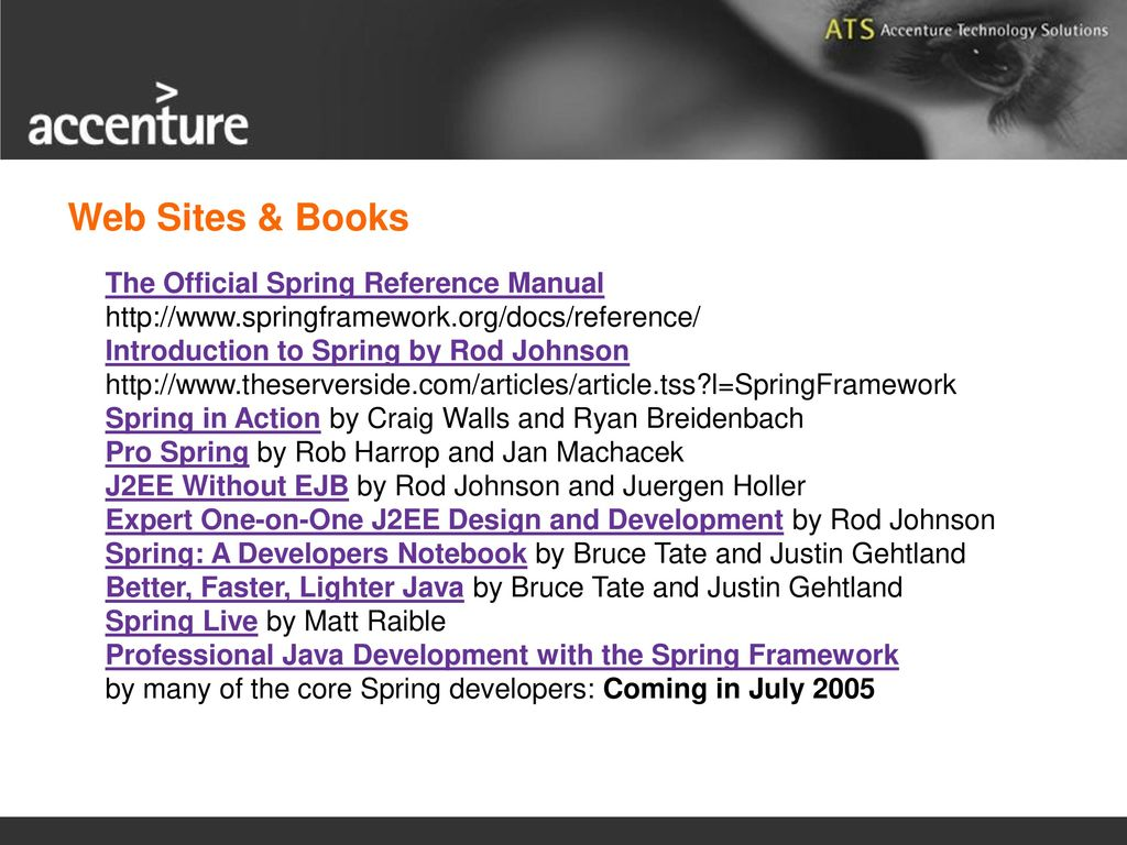 spring framework ppt download rh slideplayer com spring social reference manual pdf spring reference manual 10.6