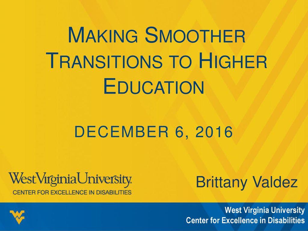 Making Smoother Transitions to Higher Education