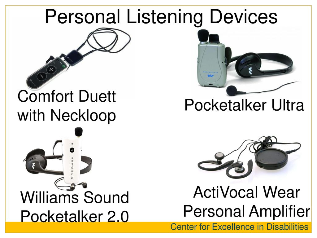 Personal Listening Devices