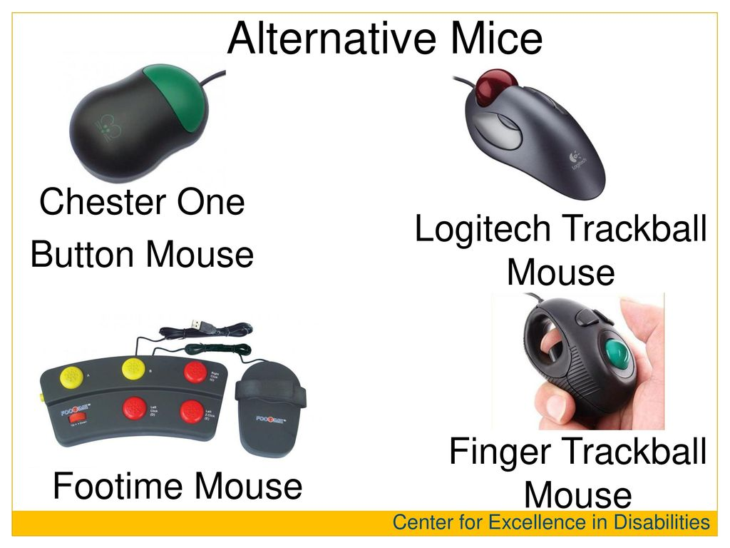 Alternative Mice Chester One Button Mouse Logitech Trackball Mouse
