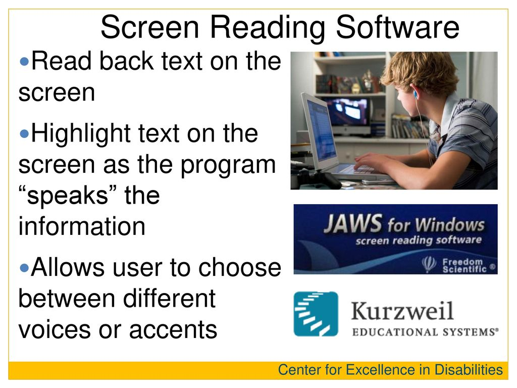 Screen Reading Software