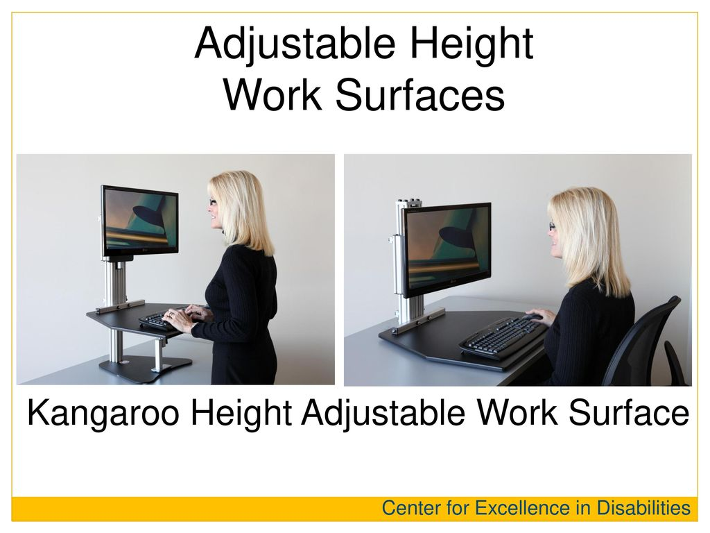 Adjustable Height Work Surfaces