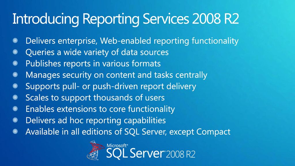 Introduction to SQL Azure Reporting - ppt download
