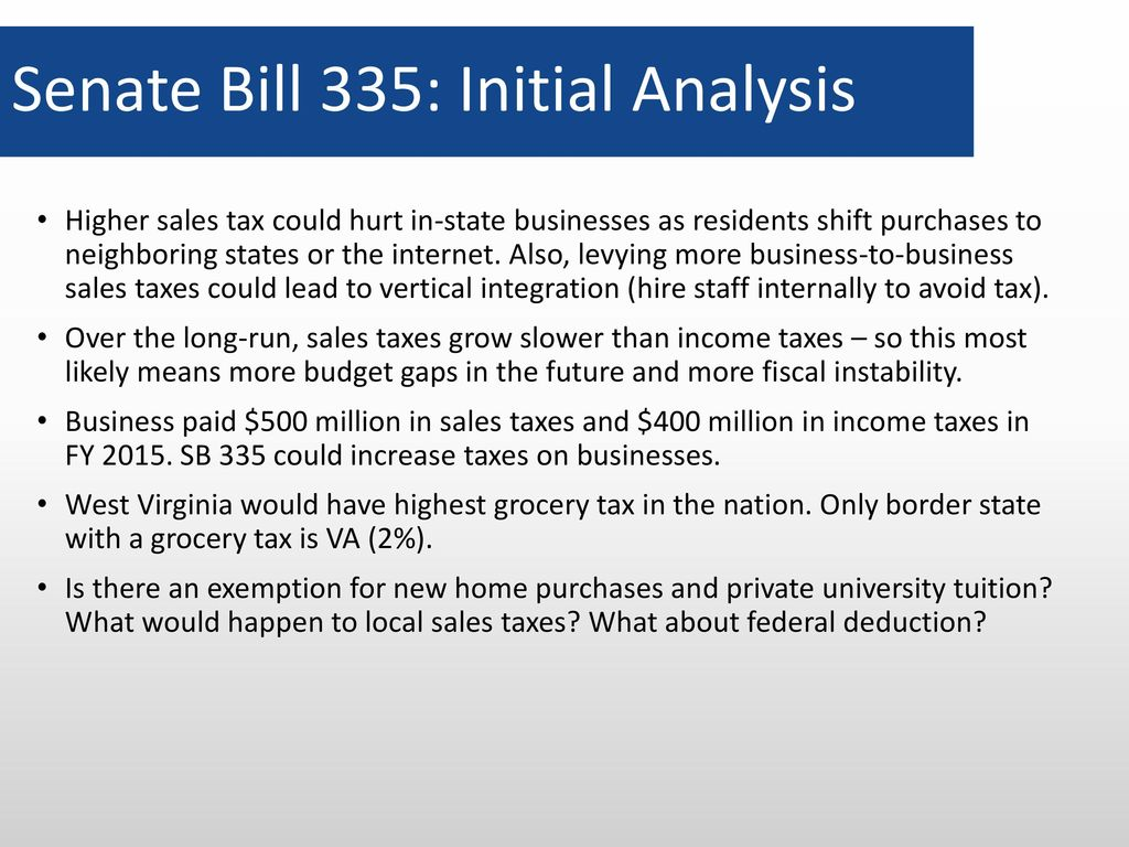 What Is The Sales Tax In Virginia >> Wv Senate Select Committee On Tax Reform 17 February Ppt Download