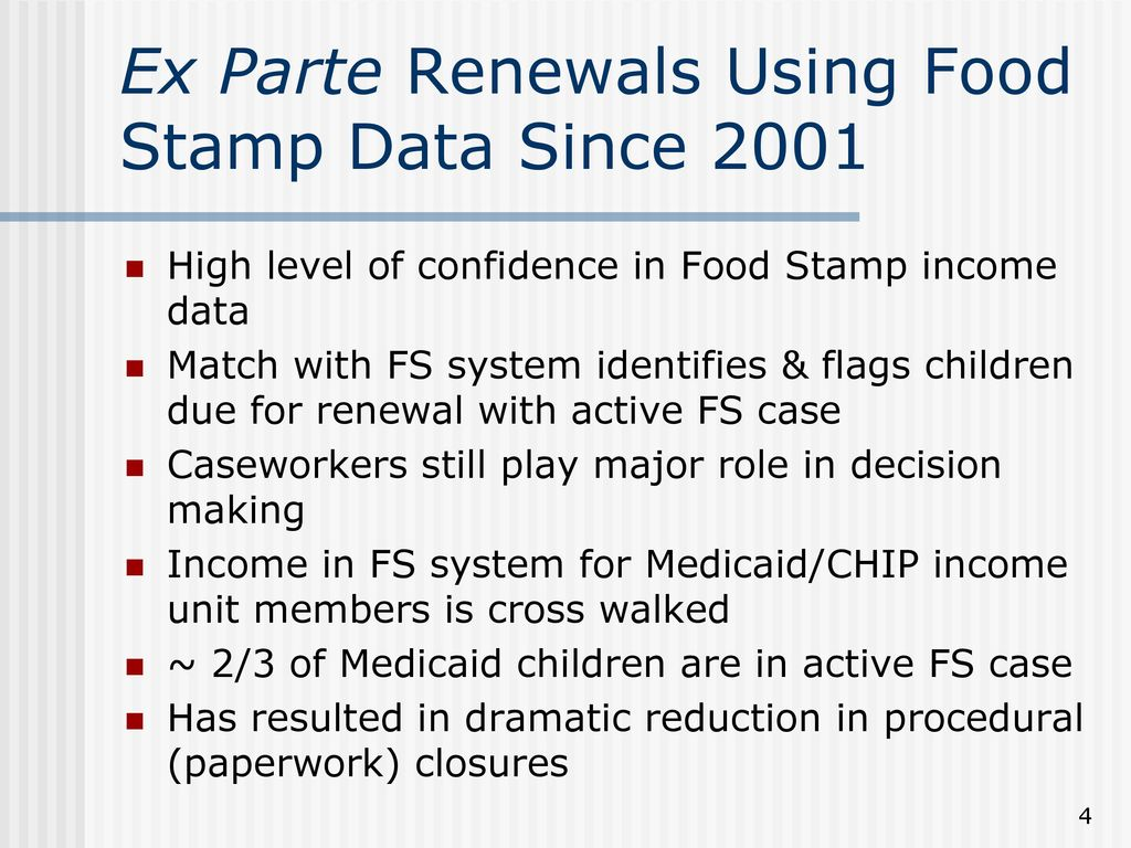 Using Food Stamp Data To Implement Ele In Louisiana Ppt Download