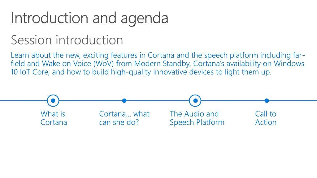 Cortana and the Speech Platform - ppt video online download