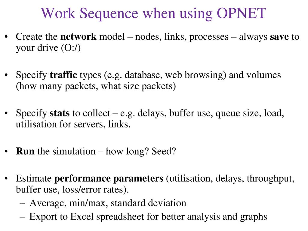 Network Simulation with Opnet - ppt download