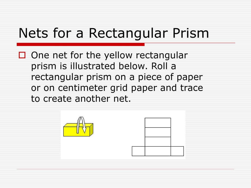 rectangular prism centimeter grid net