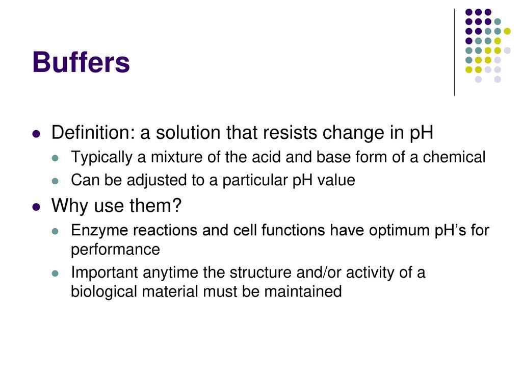 ph and buffers. - ppt download
