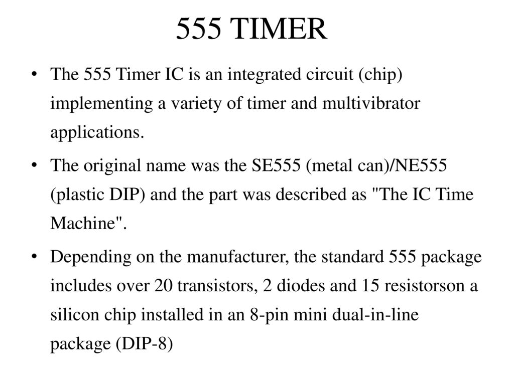 Time Delay Based Relay Operated Load Ppt Download Dark Activated Switch Using Ne555 Ic Circuit Diagram 10 555 Timer