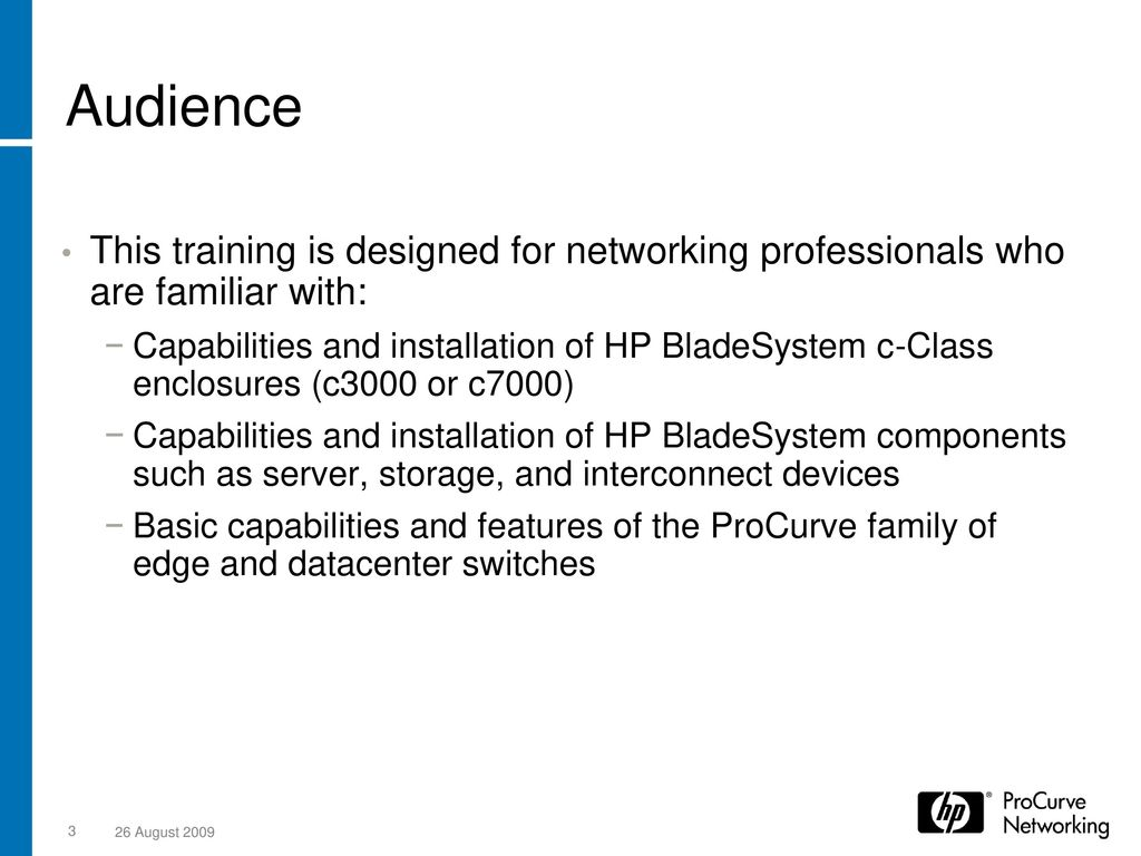 HP ProCurve 6120 Blade Switch Series - ppt download
