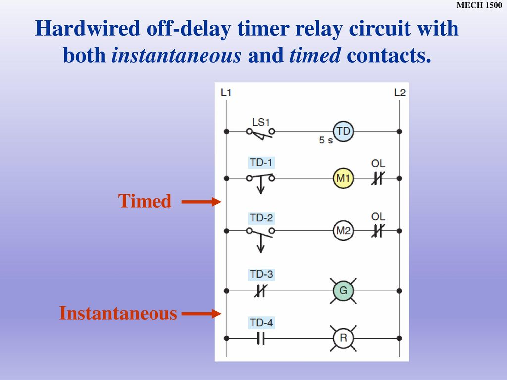 Chapter Ppt Download Wiring Diagram For Timer Off Delay On Lights Hardwired Relay Circuit With