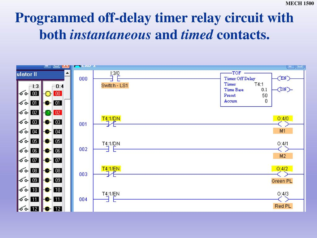 Chapter Ppt Download Relay Timing Circuit Programmed Off Delay Timer With