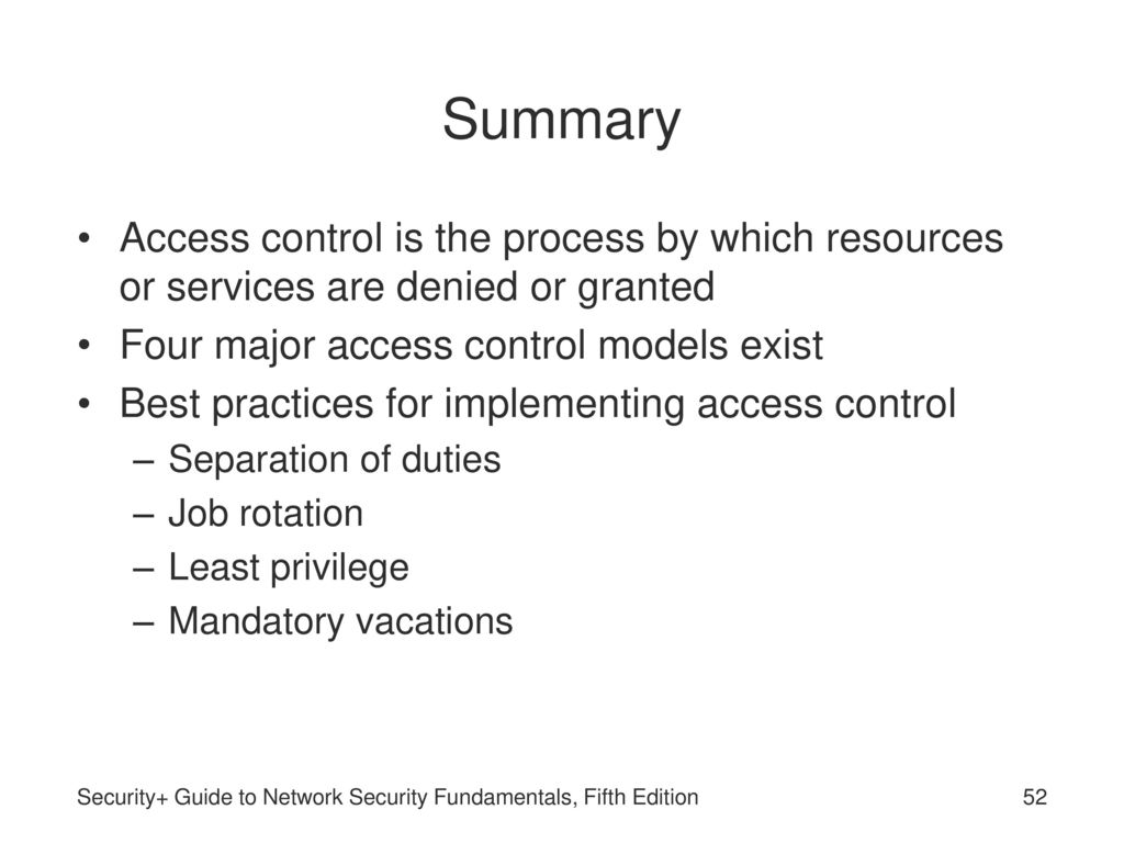 Security Guide To Network Security Fundamentals Fifth Edition