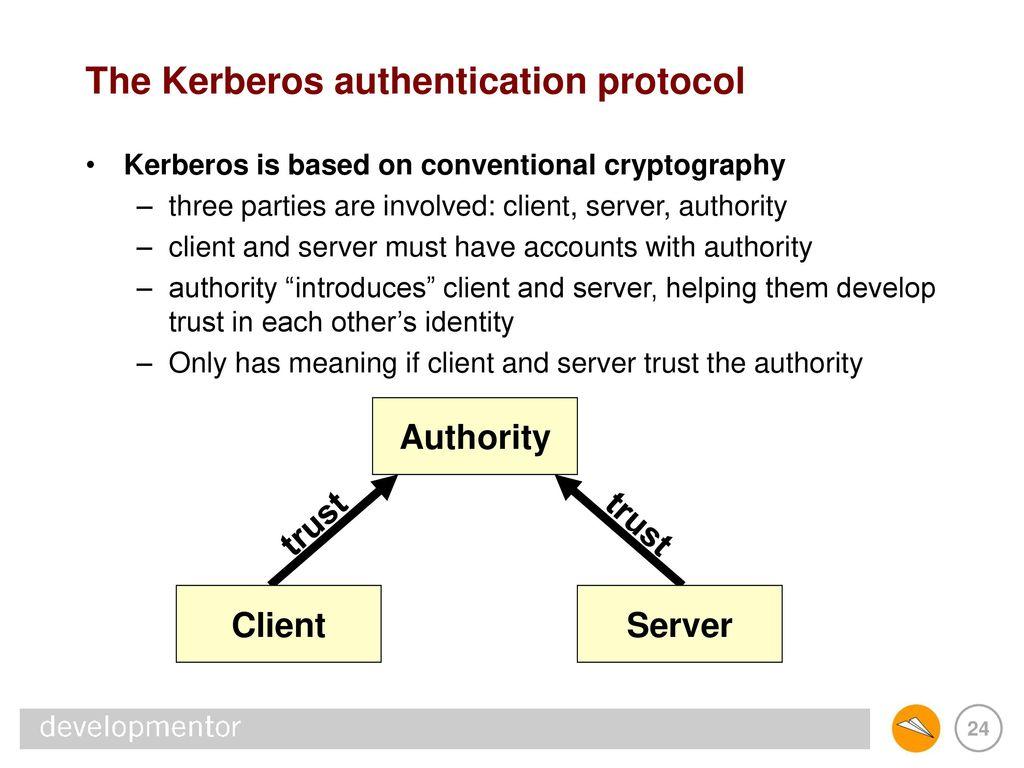 Authentication protocol overview: oauth2, saml, ldap, radius, kerberos.