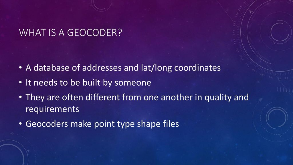 GEOCODING Fall 2016 Library Workshop  - ppt download