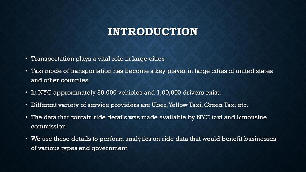 Ride Analytics on new York City taxi data - ppt download