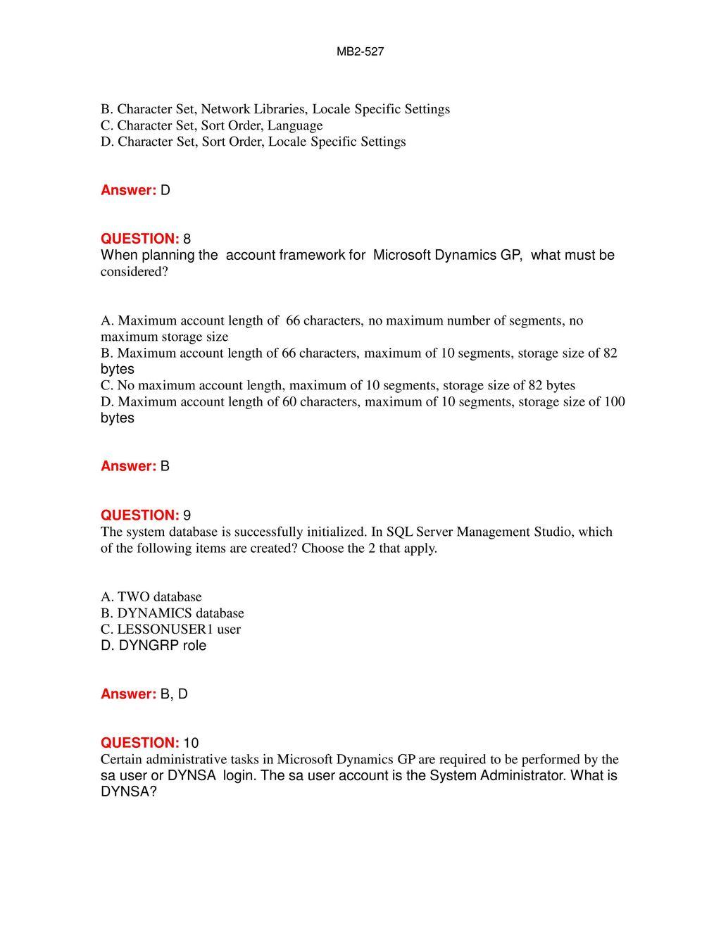 MB2-527 Microsoft GP 10 0 Installation & Configuration - ppt download