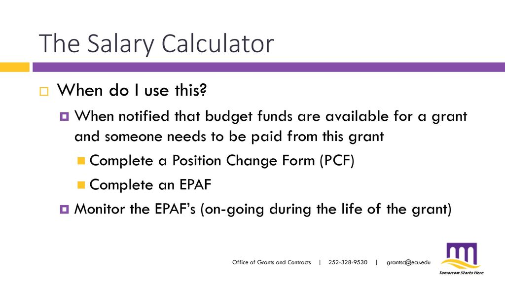 determining allowable salary for a grant buyout ppt download