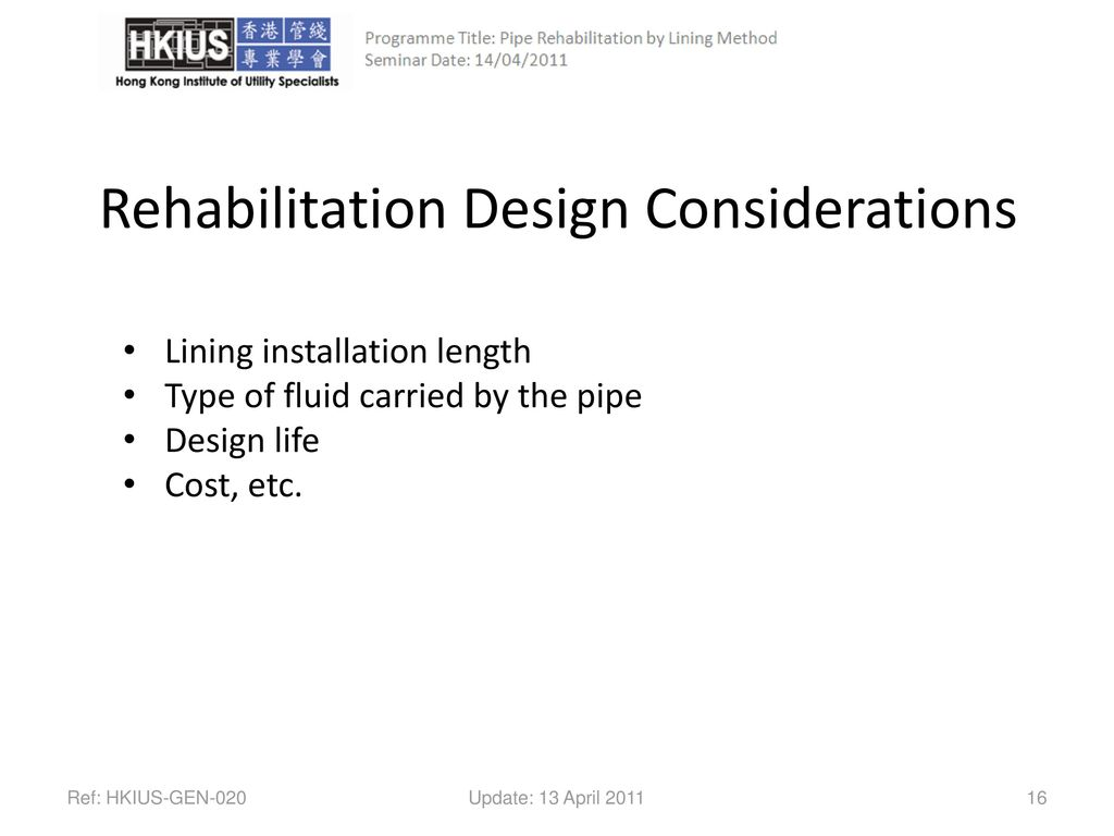 Pipe Rehabilitation By Trenchless Technology Ppt Download Piping Layout Considerations Design