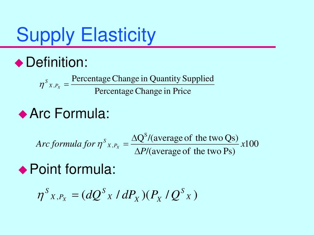 Elasticity Measures Part 2 Ppt Download