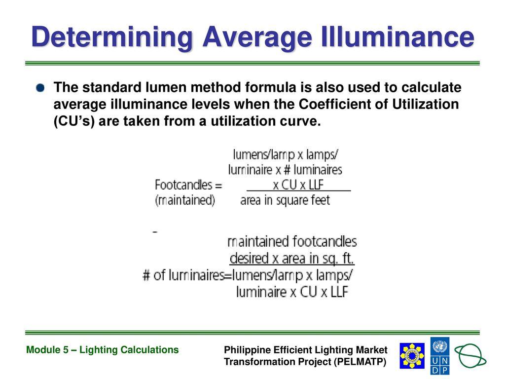 Ammco bus : Lumen method lighting calculation
