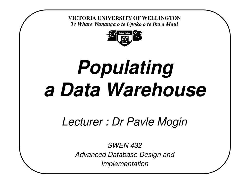 Data Warehouse Action Plan