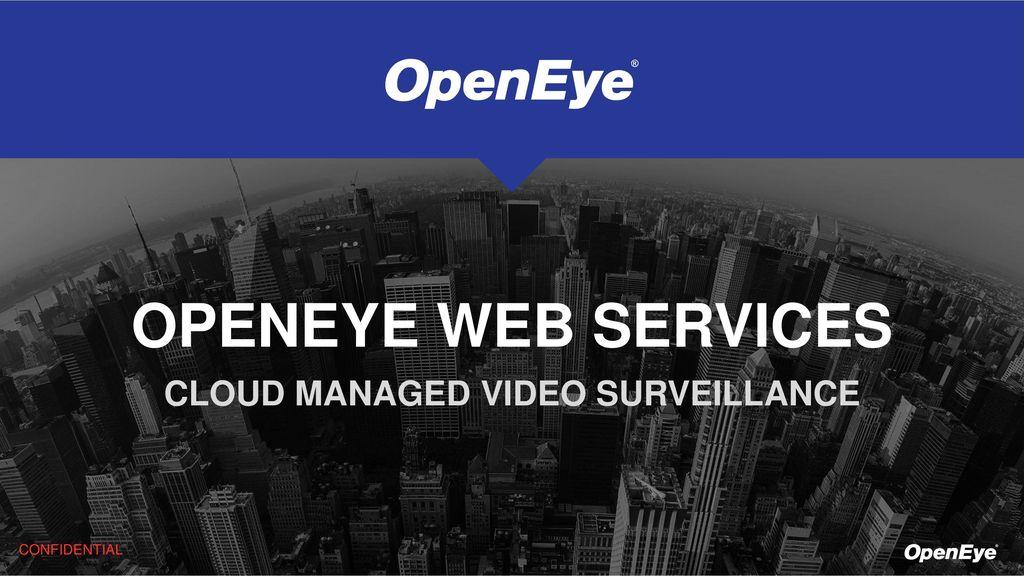 CLOUD MANAGED VIDEO SURVEILLANCE - ppt download