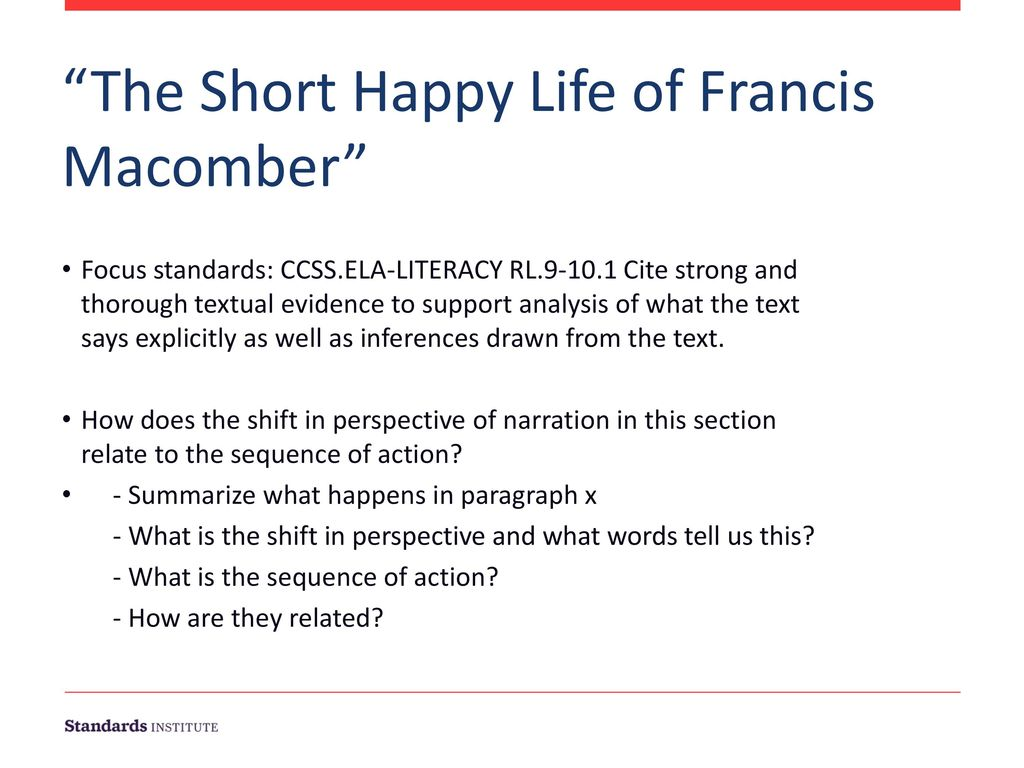 the short happy life of francis macomber questions