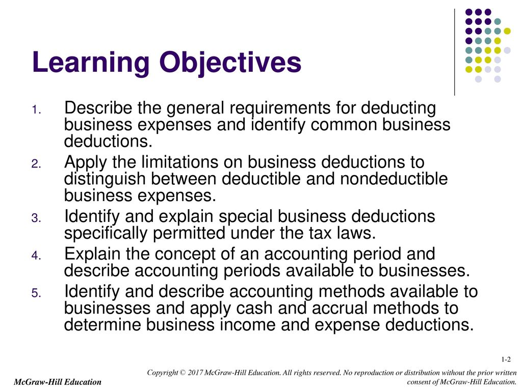 business income deductions and accounting methods ppt download