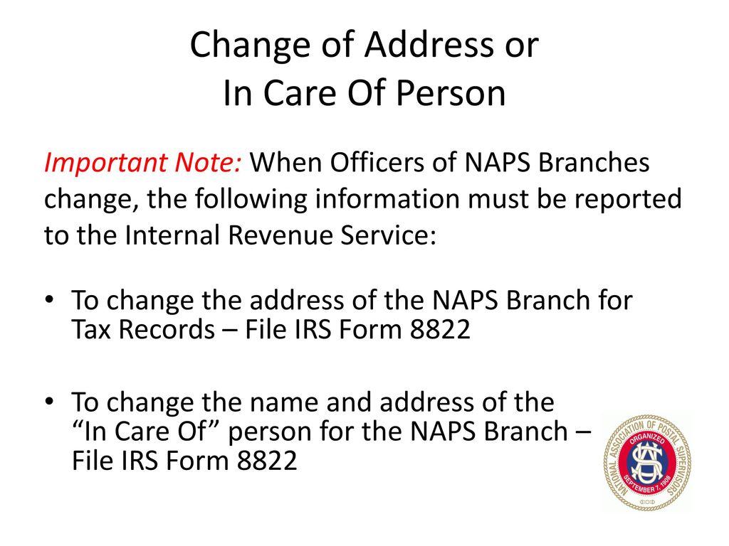 NAPS National Secretary/Treasurer - ppt download