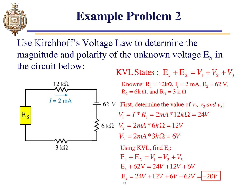 Series And Parallel First An Example Of A Circuit Lesson 4 Dc Circuits Kirchhoffs Voltage Law Kvl Ppt 17