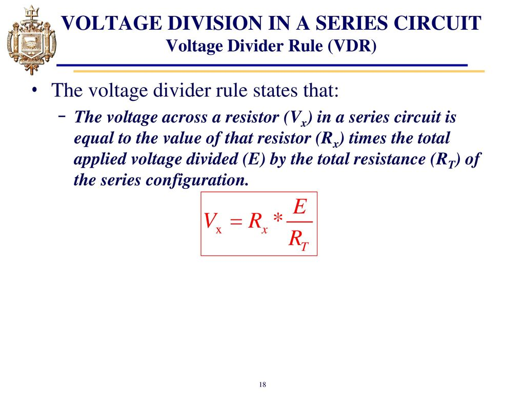 Lesson 4 Series Dc Circuits And Kirchhoffs Voltage Law Kvl Ppt What Is A Divider Circuit 18 Division In