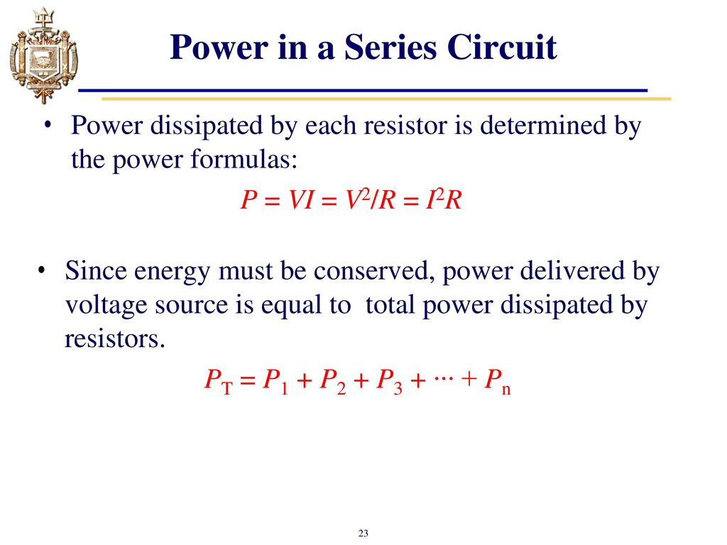 Up To The Total Resistance And Total Power Dissipated These Are