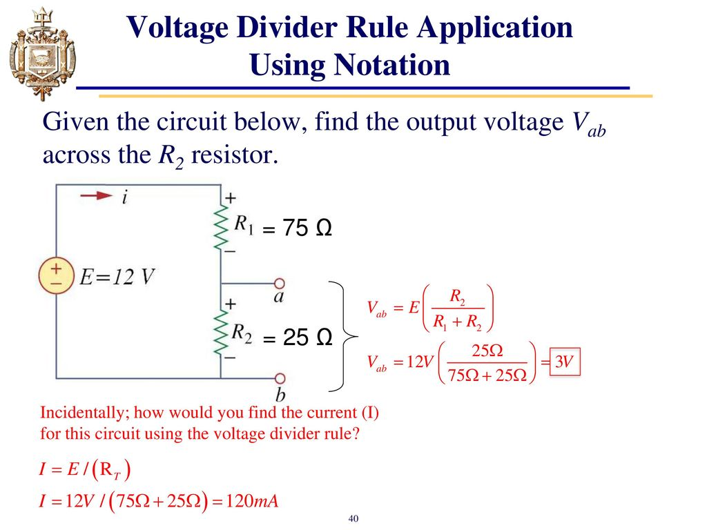 Lesson 4 Series Dc Circuits And Kirchhoffs Voltage Law Kvl Ppt Resistors Simple Divider Question Electrical Engineering 40