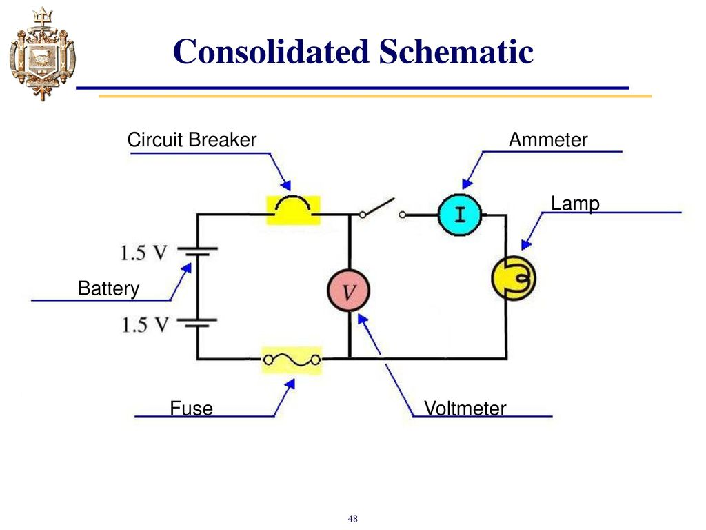 Lesson 4 Series Dc Circuits And Kirchhoffs Voltage Law Kvl Ppt Ammeter Circuit Diagram Consolidated Schematic