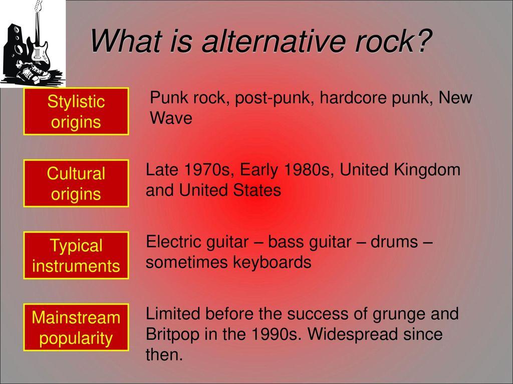 What is alternative rock
