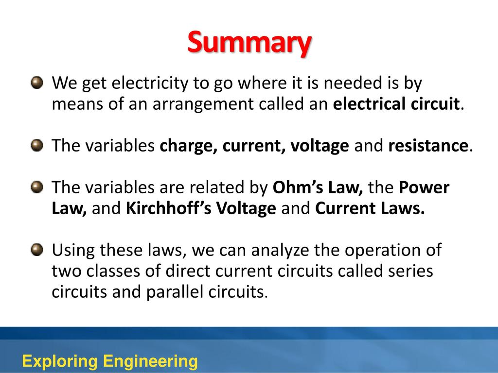 4th Edition Chapter 10 Electrical Engineering Ppt Download For Electric Circuits Learn Summary We Get Electricity To Go Where It Is Needed By Means Of An Arrangement