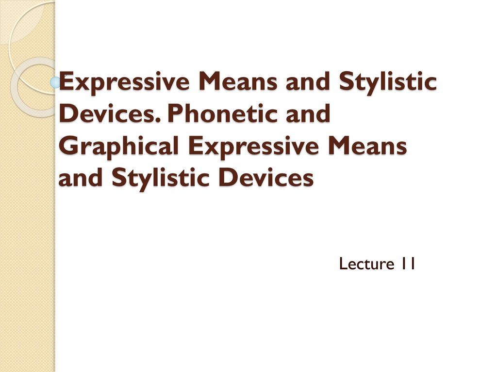 Figurative and expressive means of the language: a list with the name and description, examples 49